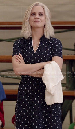 Liv's navy printed polo dress on iZombie