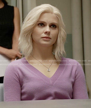 Liv's purple v-neck sweater on iZombie