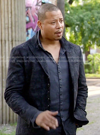 Lucious's black jacket and shirt on Empire