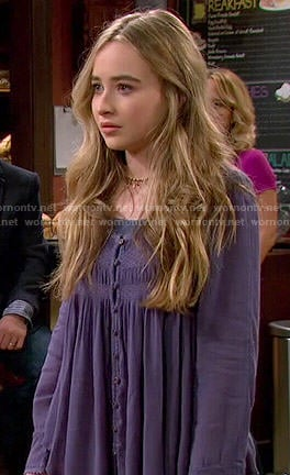 Maya's blue button front blouse on Girl Meets World