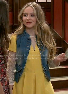 Maya's yellow pleated romper on Girl Meets World