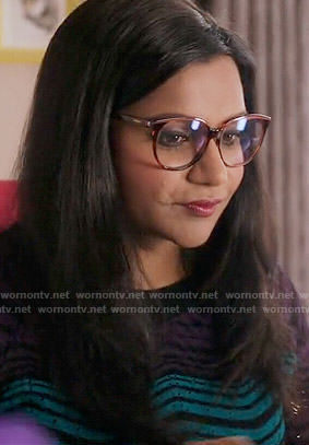 Mindy's glasses on The Mindy Project