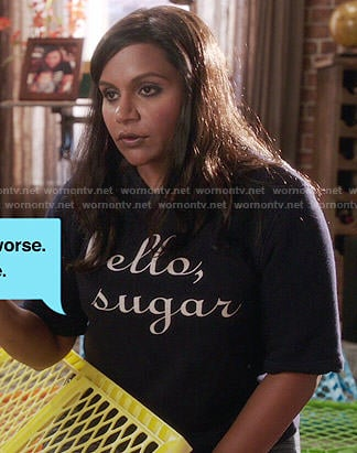 Mindy's Hello, Sugar top on The Mindy Project