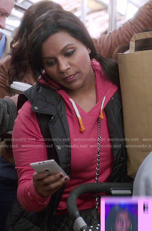 Mindy's pink hoodie on The Mindy Project