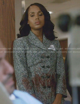 Olivia's double breasted jacket on Scandal