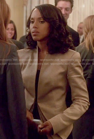 Olivia's gold jacket on Scandal
