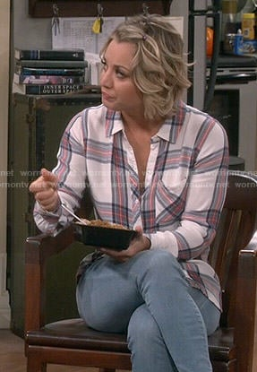 Penny's white plaid shirt on The Big Bang Theory