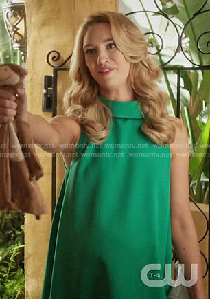 Petra's green rolled neck dress on Jane the Virgin