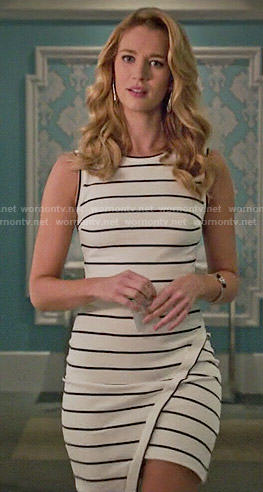 Petra's striped asymmetric dress on Jane the Virgin