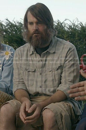 Phil's grey plaid shirt on Last Man on Earth