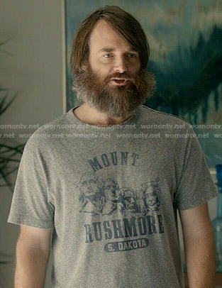 Phil's Mount Rushmore t-shirt on Last Man on Earth