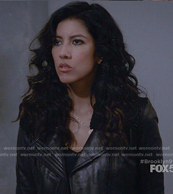 Rosa's leather jacket with shearling collar on Brooklyn Nine-Nine
