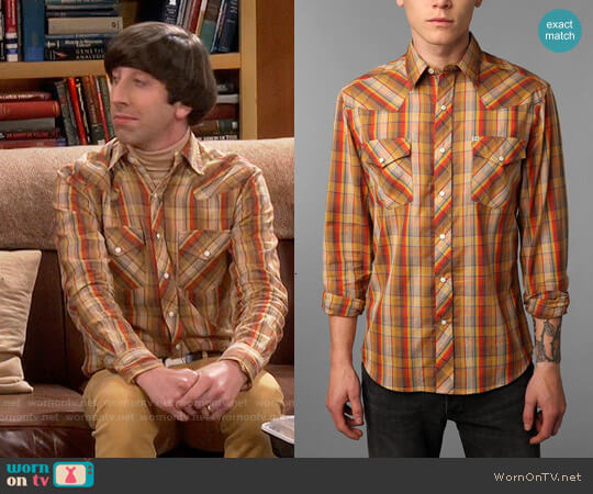 Salt Valley Chuckles Plaid Western Shirt worn by Howard Wolowitz (Simon Helberg) on The Big Bang Theory