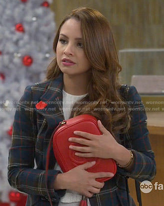 Sofia's red bag on Young and Hungry