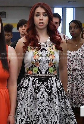 Tamara's mixed print dress on Awkward