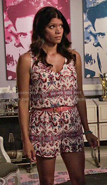 Xiomara's printed romper on Jane the Virgin
