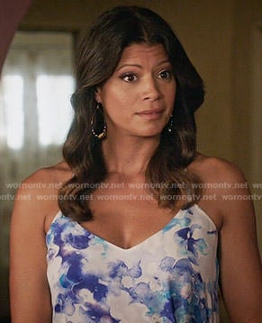 Xiomara's watercolor print cami on Jane the Virgin