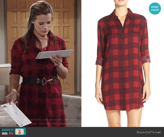 BB Dakota Kendrick Gingham Shirtdress worn by Chelsea Lawson (Melissa Claire Egan) on The Young & the Restless
