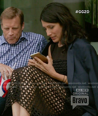 Abby's black lattice mesh dress on Girlfriends Guide to Divorce
