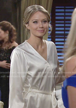 Abby's bridal robe on The Young and the Restless