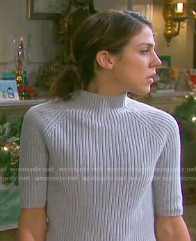 Abigail's grey high neck sweater on Days of our Lives