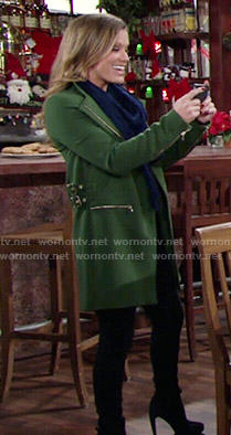 Chelsea's green coat on The Young and the Restless