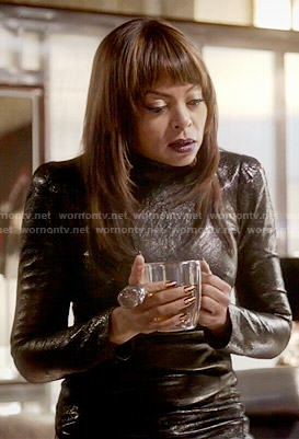 Cookie's long sleeved leather dress on Empire