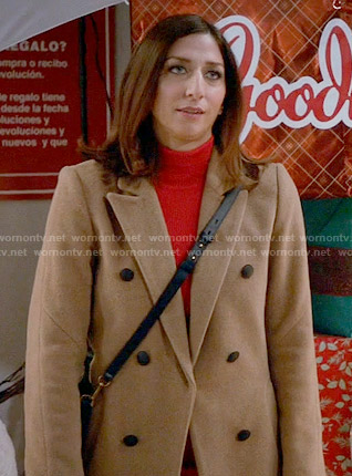 Gina's camel coat on Brooklyn Nine-Nine