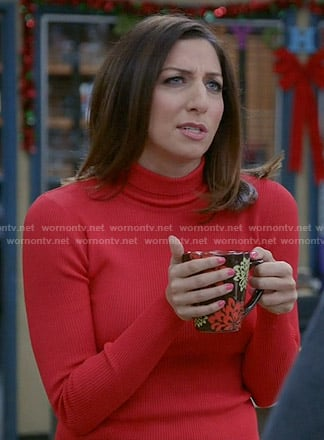 Gina's red turtleneck sweater on Brooklyn Nine-Nine