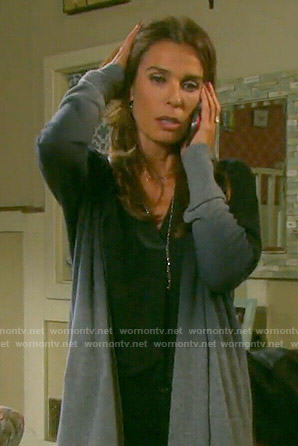Hope's grey ombre cardigan on Days of our Lives