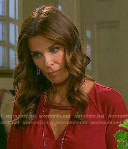 Hope's red keyhole top on Days of our Lives