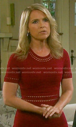 Jennifer's red ribbed dress on Days of our Lives