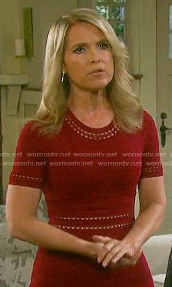 Wornontv Jennifer S Red Ribbed Dress On Days Of Our Lives