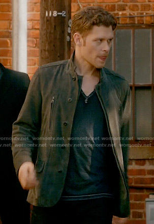 Klaus's grey suede jacket on The Originals
