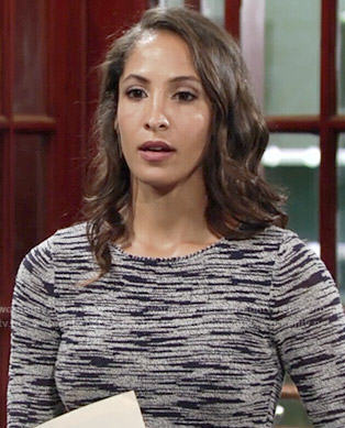 Lily's space-dye dress on The Young and the Restless