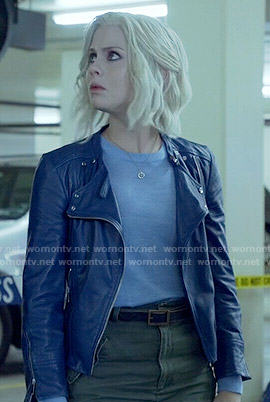 Liv's blue leather jacket on iZombie