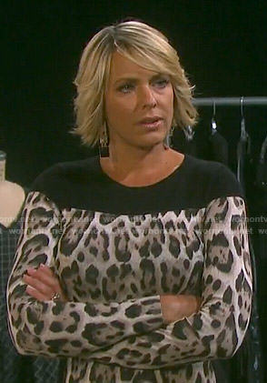 Nicole's leopard print long sleeve dress on Days of our Lives