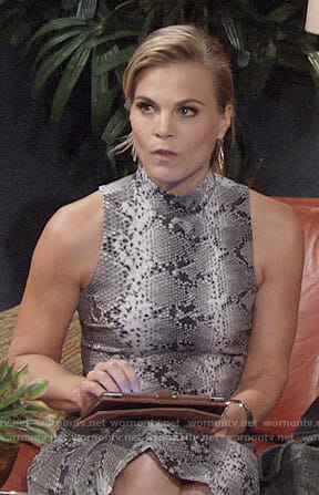 Phyllis's snake print dress on The Young and the Restless