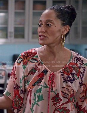 Rainbow's tropical printed blouse on Black-ish
