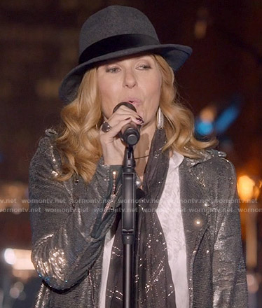 Rayna's sequin moto jacket on Nashville