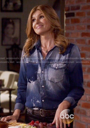 Rayna's studded denim shirt on Nashville