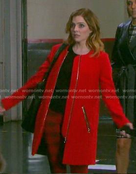 Theresa's red coat on Days of our Lives