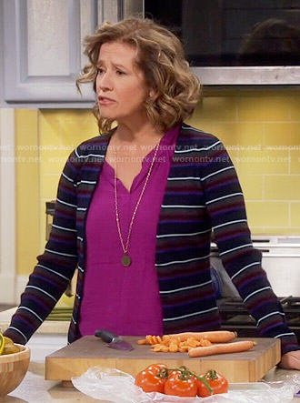 Vanessa's striped cardigan on Last Man Standing