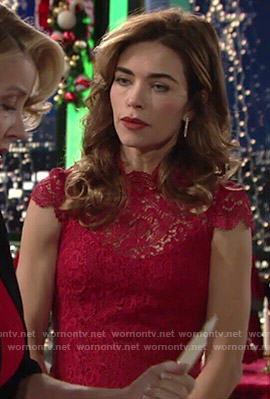 Victoria's red lace dress on The Young and the Restless