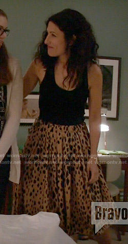 Abby's leopard print skirt on Girlfriends Guide to Divorce