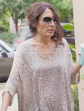 Abby's leopard print tunic on Girlfriends Guide to Divorce