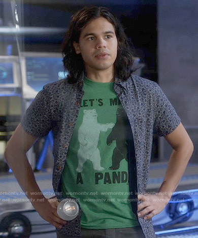 Cisco's 'Lets Make a Panda' t-shirt on The Flash