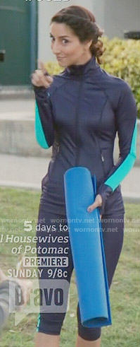 Delia's lime mesh crop top on Girlfriends Guide to Divorce