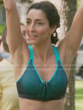 Delia's zip front sports bra on Girlfriends Guide to Divorce