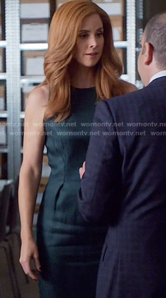 Donna's dark green dress on Suits